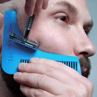 Harga Beard Modeling Combing Tools Beard Brush Comb Sky Blue - intl