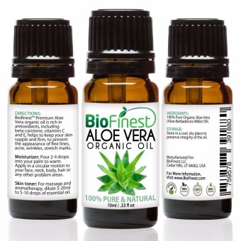 Harga Biofinest Aloe Vera Organic Oil (100% Pure Organic Carrier Oil) 10ml