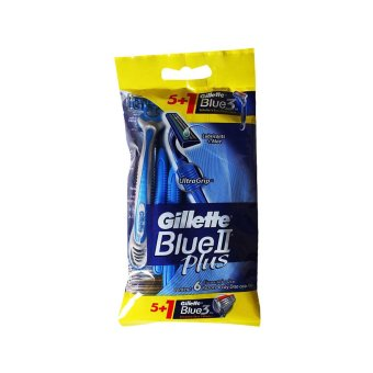 Harga Gillette Blue Ii Plus Razors (5's + 1's)
