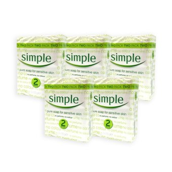 Harga Simple Sensitive Skin Pure Soap 125g x 2 (5 Packs) - 1068