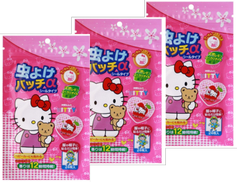 Harga 3 Packs Mosquito Repellent Patch (Hello Kitty)