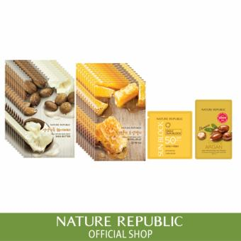 Harga Nature Republic Real Nature Mask Sheet X 20 (Shea Butter 10Ea + Royal Jelly 10Ea)