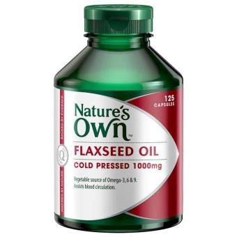 Harga Nature's Own Flaxseed Oil 1000 mg/ 125 Capsules / Vegetable Source Omega 3,6 & 9 Anti Inflammatory