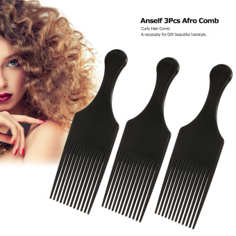 Harga Anself 3Pcs Afro Comb Curly Hair Brush Comb Hairdressing Styling Tool Black for Man & Woman - intl