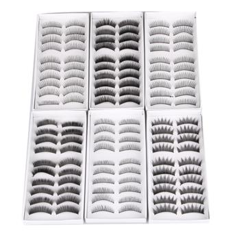 Harga 60 Pair Mix Thick Long False Eyelashes Eye Lash Makeup Cosmetic Kit - intl