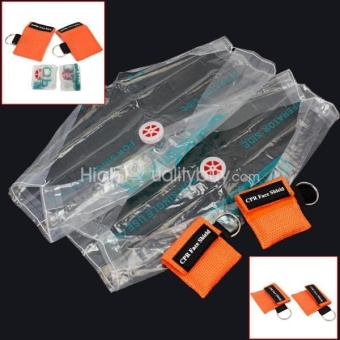 Harga 2 Pcs CPR First Aid Face Shield Mask color:Orange - intl
