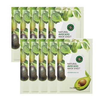 Harga The Saem Natural Avocado Mask Sheet (10ea) - intl