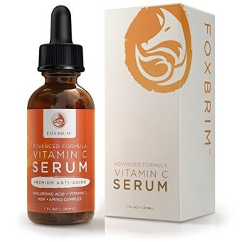 Harga Foxbrim Vitamin C Serum for Face, 1 fl oz. - BEST Anti-Aging Serum - Vegan Hyaluronic Acid & Amino Complex - Premium Face Serum for Beautiful Skin - Natural & Organic - Perfect for All Skin Types - Lasting Results with Amazing Guarantee - intl