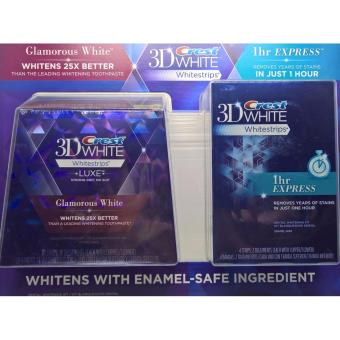 CREST 3D WHITE WHITESTRIPS LUXE GLAMOUROUS WHITE (14 TREATMENTS) WITH 3D WHITE 1HR EXPRESS WHITESTRIPS (2 TREATMENTS)