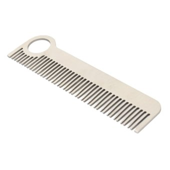 Harga Hair Comb unisex Stainless Steel Health Care Tactical pocket Comb