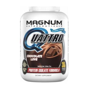 Harga MAGNUM QUATTRO, WORLD'S MOST ADVANCED PHARMACEUTICAL GRADE PROTEIN ISOLATE, CHOCOLATE LOVE, 4LBS