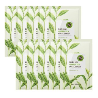 Harga The Saem Natural Green Tea Mask Sheet (10ea) - intl
