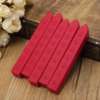 Harga 5PCS Vintage Sealing Wax Stick s Candle Party Wedding Invita tion Envelope Letter Decorations dark red - intl