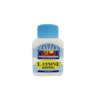 Harga 21st Century L-Lysine 600mg an Anti viral amino, helps fight flu, herpes