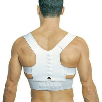 Harga Magnetic Posture Support Corrector Back Pain Young Belt Brace Shoulder (White) - Intl