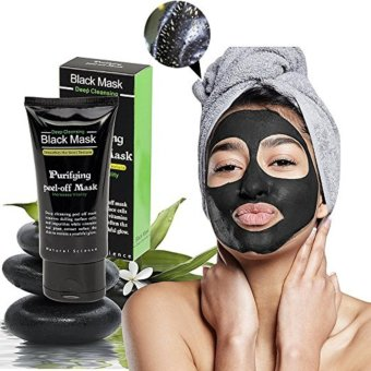 Harga Blackhead Remover Cleaner Purifying Deep Cleansing Acne Peel off Face Mask, Black Mud, 50 mL - intl