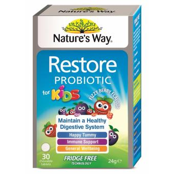 Harga Nature's Way Restore Probiotic for Kids 30 Chewable Tablets