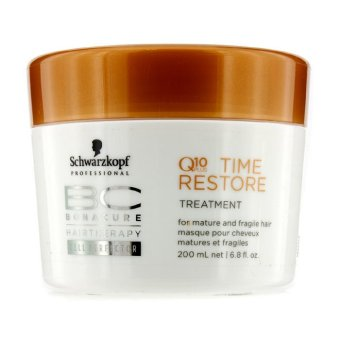 Harga Schwarzkopf BC Time Restore Q10 Plus Treatment - For Mature and Fragile Hair (New Packaging) 200ml/6.8oz (EXPORT)