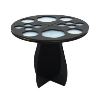 Harga 1 Set Black Round Make Up Brush Hanging Brush Stand Display Rack Brush Drying Holder Orgnaizer Make Up Tool - intl