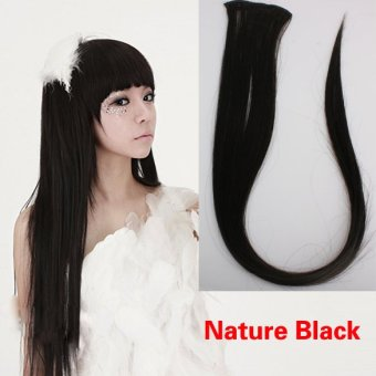 Harga Nature Black Clip On Hair Straight Extensions Easytouse Long Elegant
