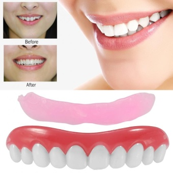 Instant Smile Fake Cosmetic Veneer Upper Set Dentures Teeth - intl - 2