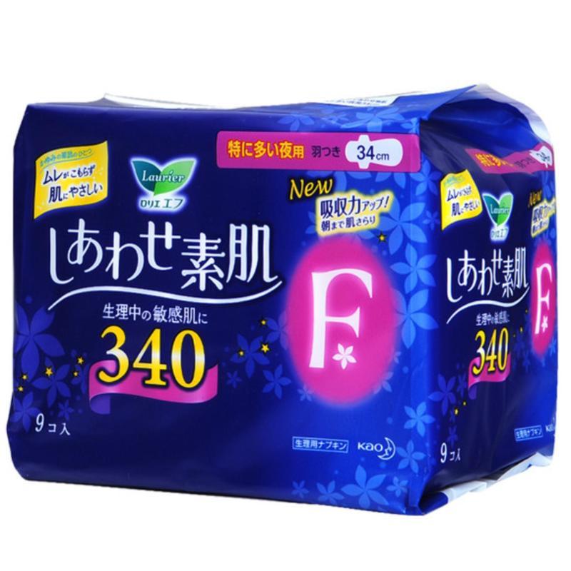 Buy Japan Kao night sanitary pads cotton soft wing 34cm Singapore