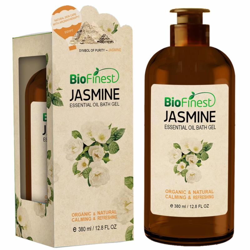 Buy Jasmine Essential Oil Shower Gel- Aromatherapy Luxury Spa Gift Set- Natural Fragrance Body Wash - Organic, Calming, Refreshing (380ml) Singapore