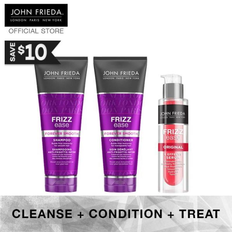 Buy John Frieda Frizz Ease Forever Smooth Shampoo & Conditioner + Original Serum Singapore