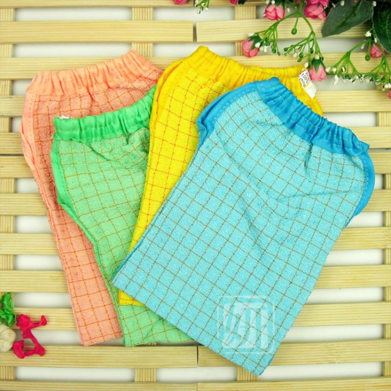 Buy Korea plaid cuozao towel high quality bath towel strong under gray does not hurt the skin is not pain bath towel Singapore