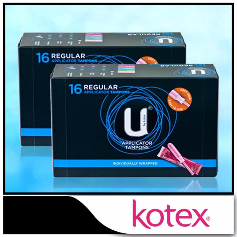 Buy Kotex Applicator Tampons Regular 16pcs x 2 packs Singapore