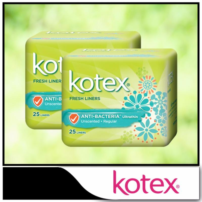 Buy Kotex Fresh Liners Ultrathin Anti-Bacteria 25pcs x 2 packs Singapore