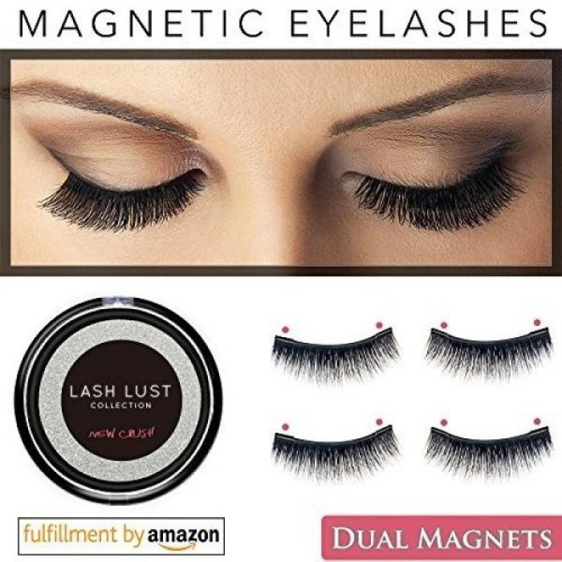 Buy LashLust False Magnetic Eyelashes Premium Set (4 Pcs). Dual Magnets, No Glue, Magic 3D Fake Lashes Extension. Ultra Soft, Natural Look and Handmade. Long and Thick. One Two Cosmetics Cruelty Free - intl Singapore