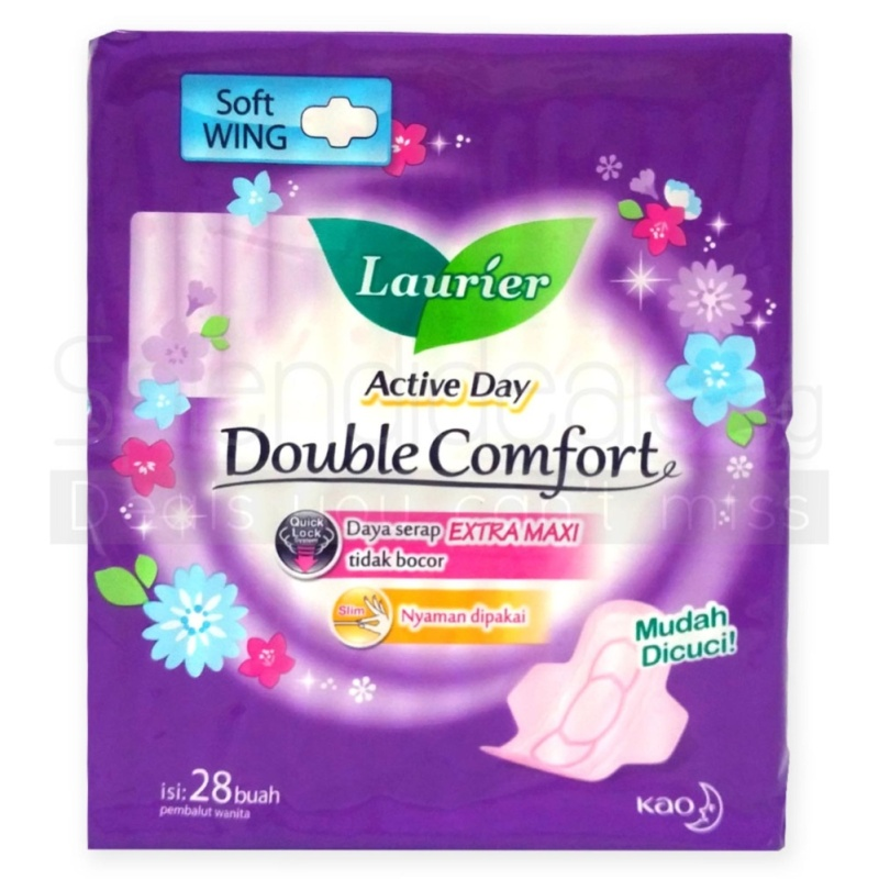 Buy Laurier Sanitary Pads - Double Comfort Active Day Soft Wing 28s x 4 Packs - 5098 Singapore