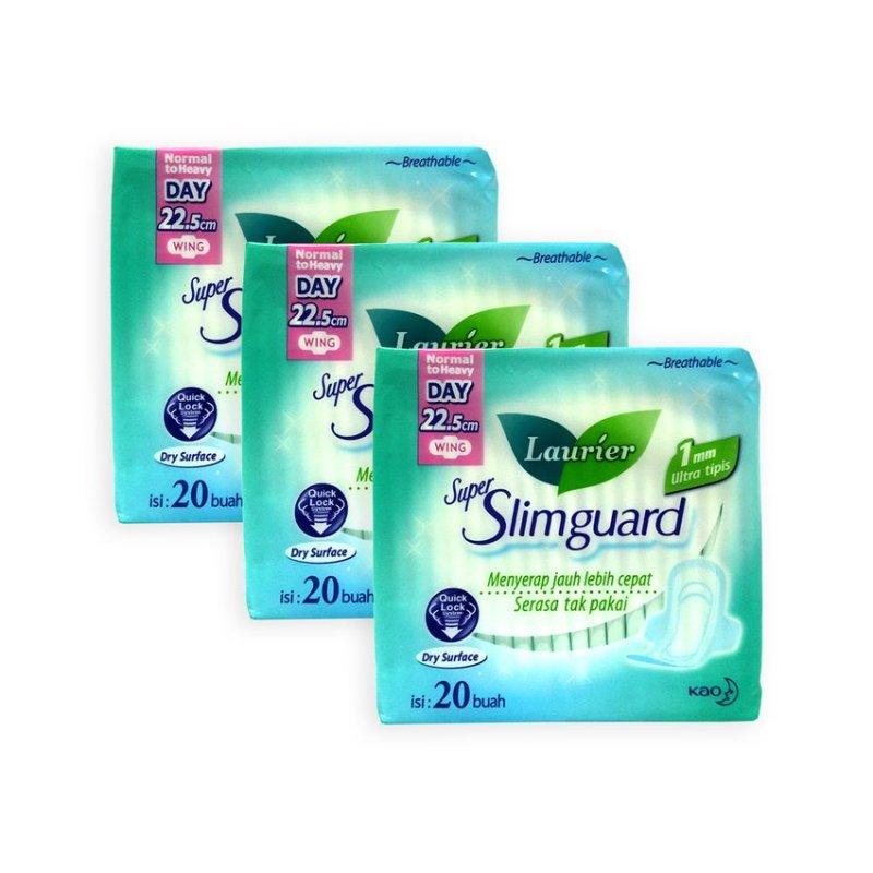 Buy Laurier Super Slimguard 22.5 cm Wings Sanitary Pads 20s x 3 Packs - 4026 Singapore