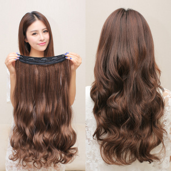 Harga Long curly hair piece wig piece big wave wig piece invisibleA-style long hair piece wig female seamless hair