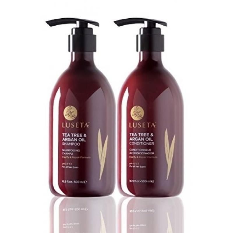 Buy Luseta Tea Tree & Argan Oil Shampoo & Conditioner Set 2x16.9oz - intl Singapore