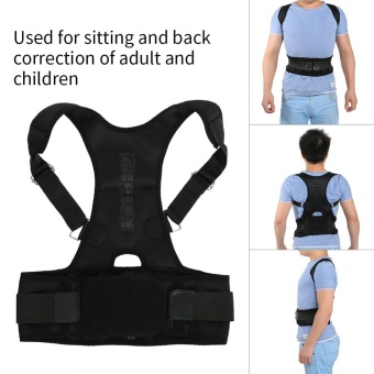 Harga Magnetic Back Shoulder Lumbar Support Posture Correction Belt(L) -intl