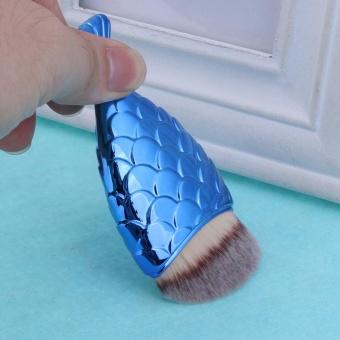 Makeup Brush Fishtail Bottom Brush Powder Foundation Blush Tool(Blue) - intl - 3
