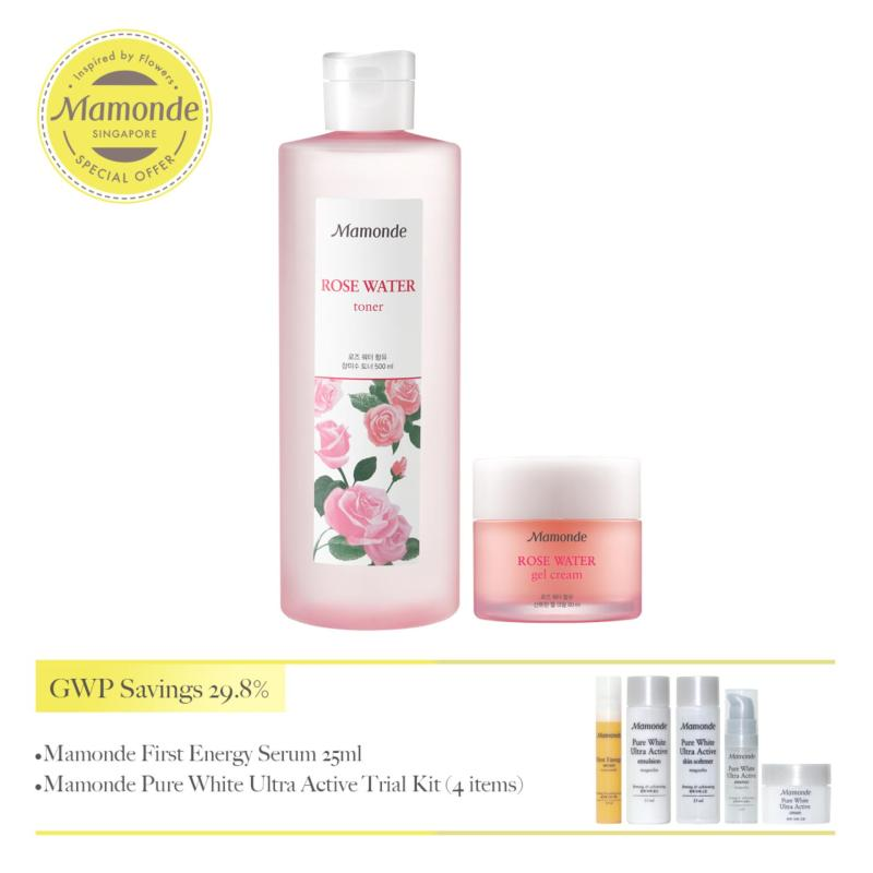 Buy Mamonde Rose Water Toner 500ml & Gel Cream Set - Exclusive Singapore