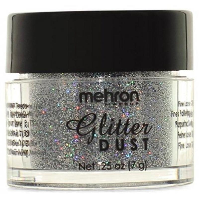 Buy Mehron Makeup Glitter Dust Face & Body Paint, HOLOGRAPHIC SILVER- .25oz - intl Singapore