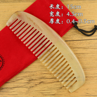 Micro Flaws Clearance Natural Horn Comb Large Sheep Horn CombAnti-Off Anti-Static Health Care Massage Comb