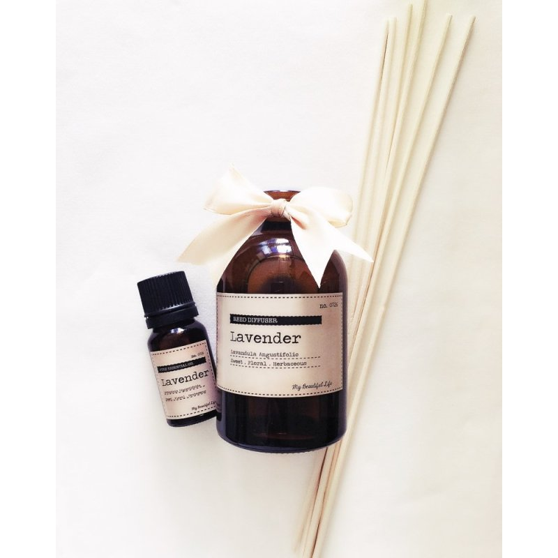 Buy My Beautiful Life Lavender Pure Essential Oil and Reed Diffuser Value Set Singapore