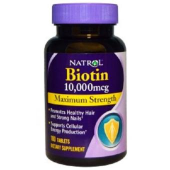 Harga Natrol, Biotin, Maximum Strength, 10,000 mcg, 100 Tablets