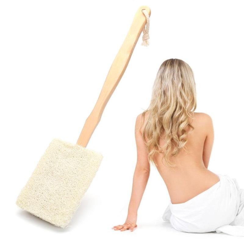 Buy Natural luffa Loofah Bath Body Shower Spa Back Washing Scrubber Brush - intl Singapore