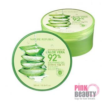 Harga NATURE REPUBLIC ALOE VERA 92% (300ml)