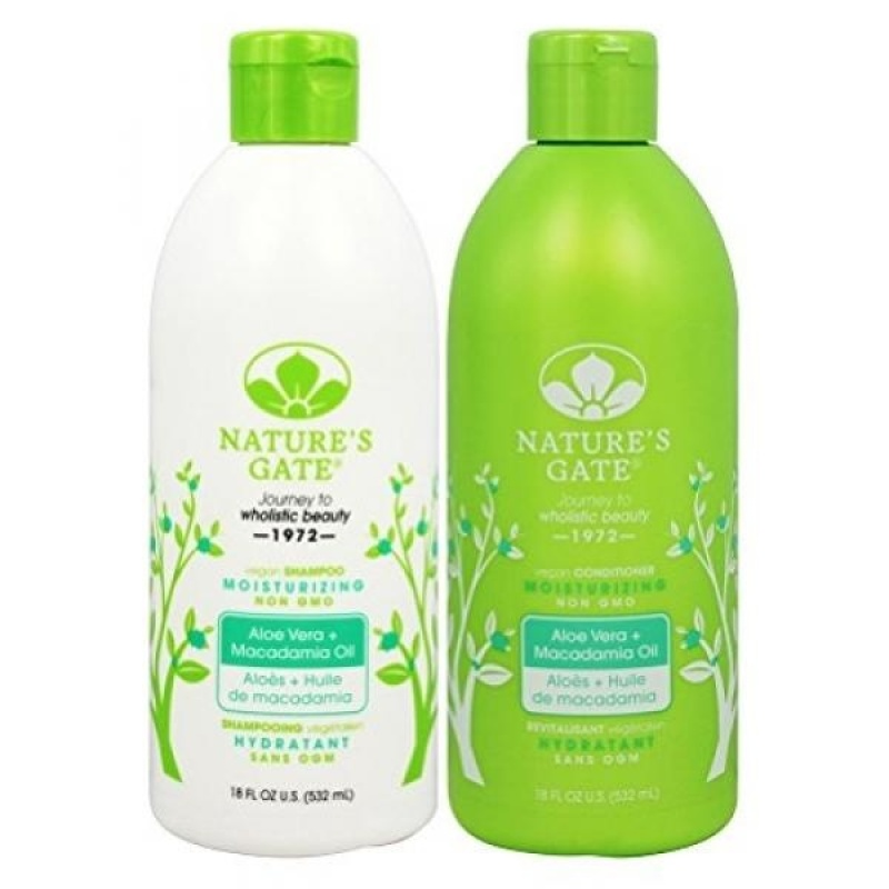 Buy Natures Gate Aloe Vera Moisturizing for Normal to Dry Hair, Duo Set Shampoo & Conditioner, 18 Oz Each Bottle - intl Singapore