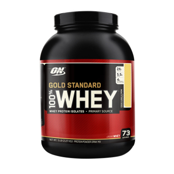 Harga Optimum Nutrition Gold Standard 100% Whey 5 lbs - French VanillaCreme