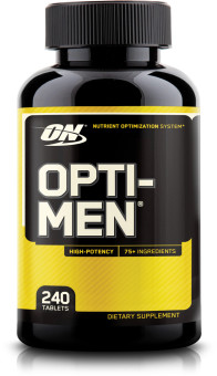 Optimum Nutrition Opti-Men 240 Caps With Free Gift