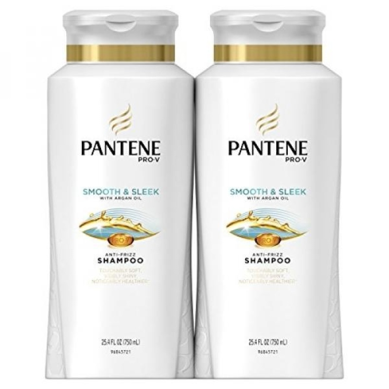 Buy Pantene Pro-V Smooth and Sleek Shampoo, 25.4 Fluid Ounces (Pack of 2) - With Argan Oil - intl Singapore