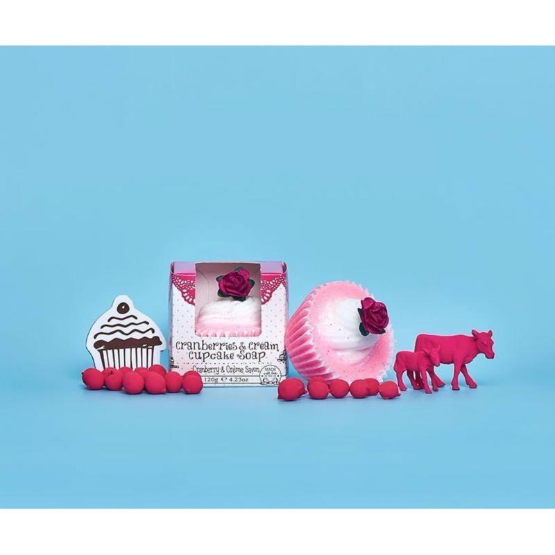 Buy Patisserie de Bain Cranberry & Cream Cupcake Soap Singapore